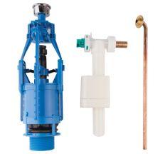Комплект - набірної/зливний механізми Azzurra Glaze B19002F/40 кнопка хром 3/6 lt