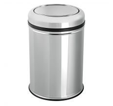 Відро для сміття з кришкою-перевертиш 20Л, хром