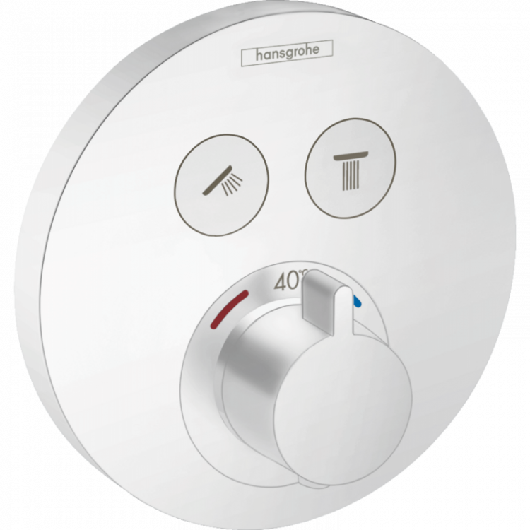 SHOWER SELECT S термостат для 2х споживачів, СМ, білий матовий - 1