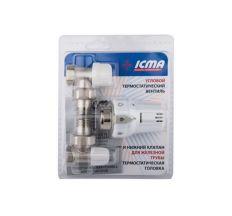 """Термокомплект Icma 1/2"""" кутовий №KTE985+774+805"""