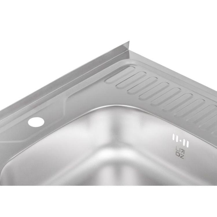 Кухонна мийка Lidz 6060-L Decor 0,6 мм (LIDZ6060LDEC06) - 6