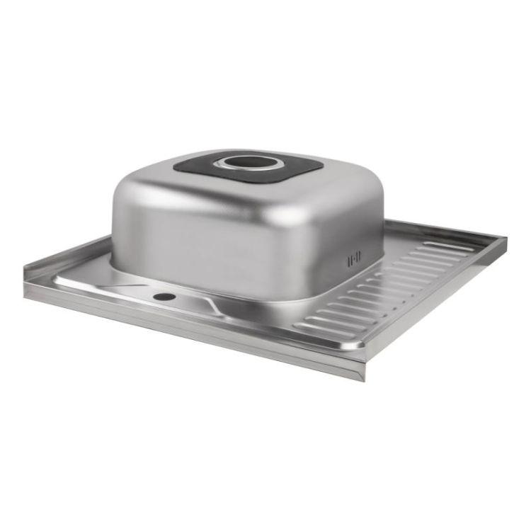 Кухонна мийка Lidz 6060-L Decor 0,8 мм (LIDZ6060LDEC08) - 5
