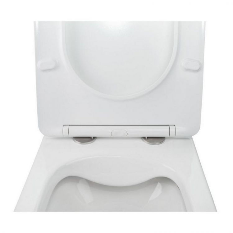 Комплект інсталяція Grohe Rapid SL 38772001 + унітаз з сидінням Qtap Jay QT07335176W + набір для гігієнічного душу зі змішувачем Grohe BauClassic 2904800S - 6