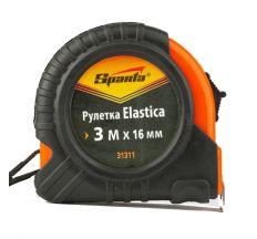 Рулетка Sparta Elastica 3м*16мм обрезиненный корпус 31311