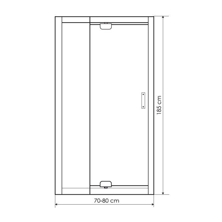 Двері в нішу розпашні Zuzmara 70х80х185 - 2