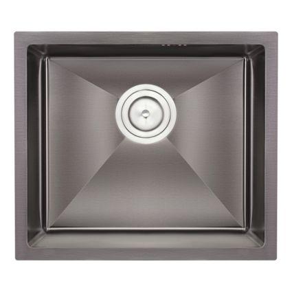 Кухонна мийка Qtap D4843BL 2.7/1.0 мм (QTD4843BLPVD2710) - 1