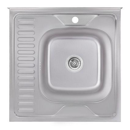 Кухонна мийка Lidz 6060-R Decor 0,6 мм (LIDZ6060RDEC06) - 1