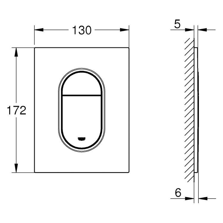 Rapid SL 3в1 комплект для подвесного унитаза (бачок, крепеж, кнопка хром - двойн. слив 37624000) - 4
