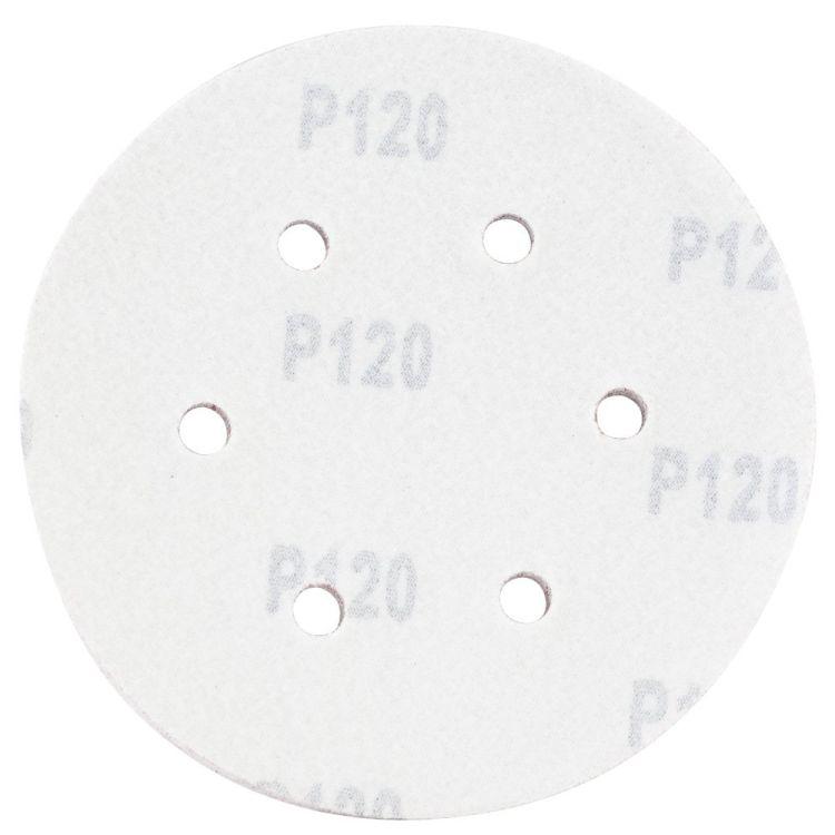 Шлифовальный круг 6 отверстий Ø150мм P120 (10шт) Sigma (9122271) - 2