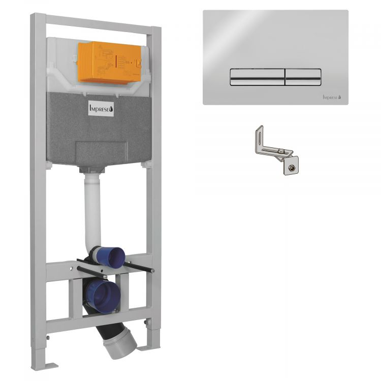 IMPRESE Комплект інсталяції 3в1(клавіша PANI хром) - 1
