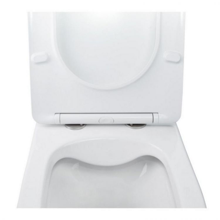 Комплект інсталяція Grohe Rapid SL 38722001 + унітаз з сидінням Qtap Swan QT16335178W + набір для гігієнічного душу зі змішувачем Grohe BauClassic 2904800S - 6