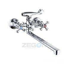 Смеситель для ванны Zegor длинный гусак T65-DАК7-A827