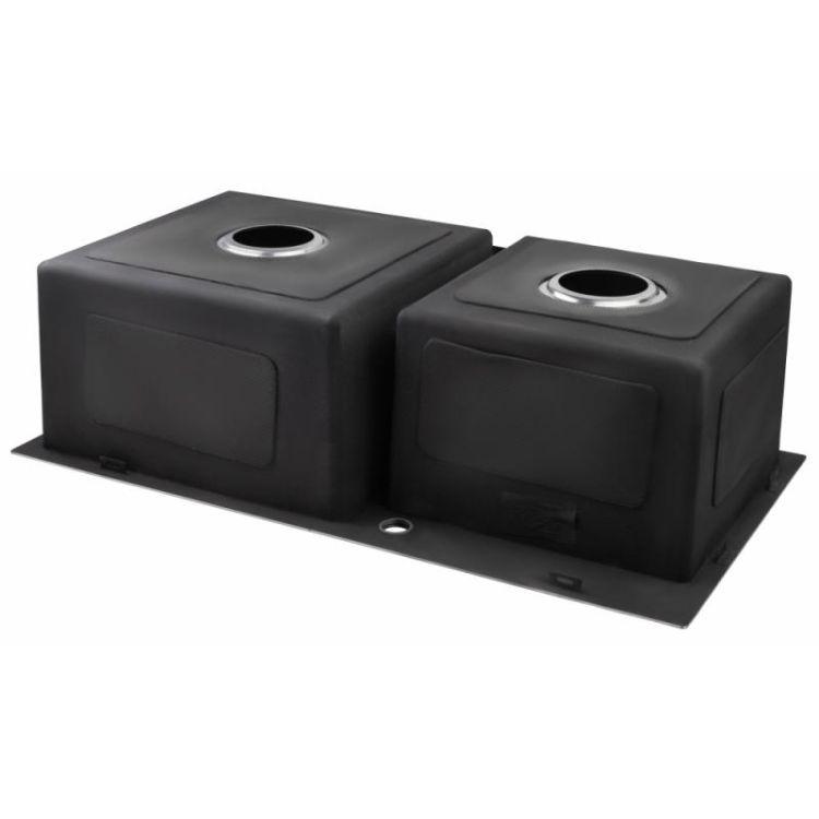 Кухонна мийка Lidz H7843 Brush 3.0/1.0 мм (LIDZH7843BRU3010) - 5