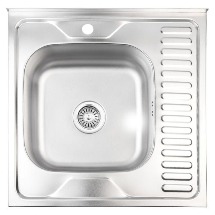 Кухонна мийка Lidz 6060-L Decor 0,8 мм (LIDZ6060LDEC08) - 1