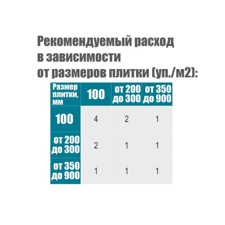 Крестик дистанционный (многоразовый) для плитки 2,5мм 100шт Sigma (8241231) - 3