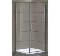 RUDAS душова кабіна 90*90*200 см, квадратна, права, орні, скло (скло+двері)