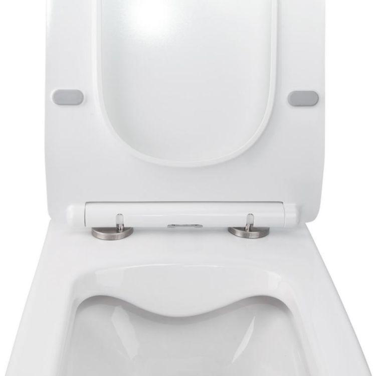 Комплект Qtap інсталяція Nest QTNESTM425M06CRM + унітаз з сидінням Crow QT05335170W + набір для гігієнічного душу зі змішувачем Inspai-Varius QTINSVARCRMV00440201 - 6