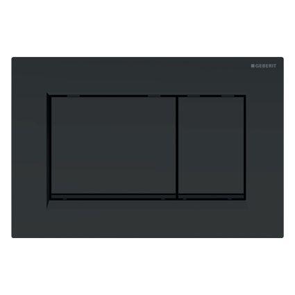 SIGMA30 змивна клавіша, подвійний змив: чорний матовий, легко чиститься покриття, чорний - 1
