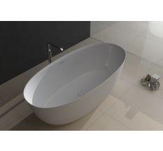 Ванна отдельностоящая каменная 170*80*54см, с переливом и донным клапаном