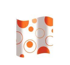 Шторка для ванної, оранжеві кола 2100817