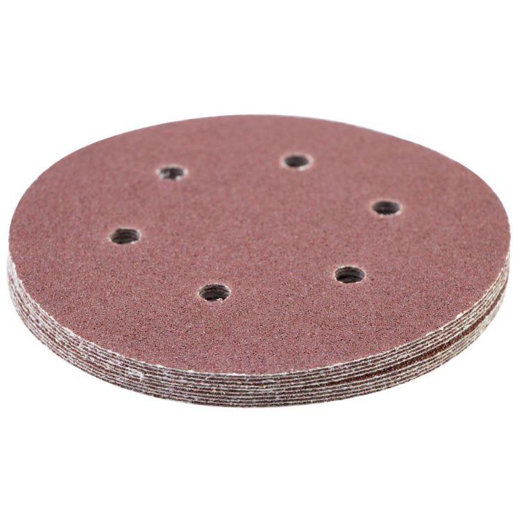Шлифовальный круг 6 отверстий Ø150мм P60 (10шт) Sigma (9122241) - 3