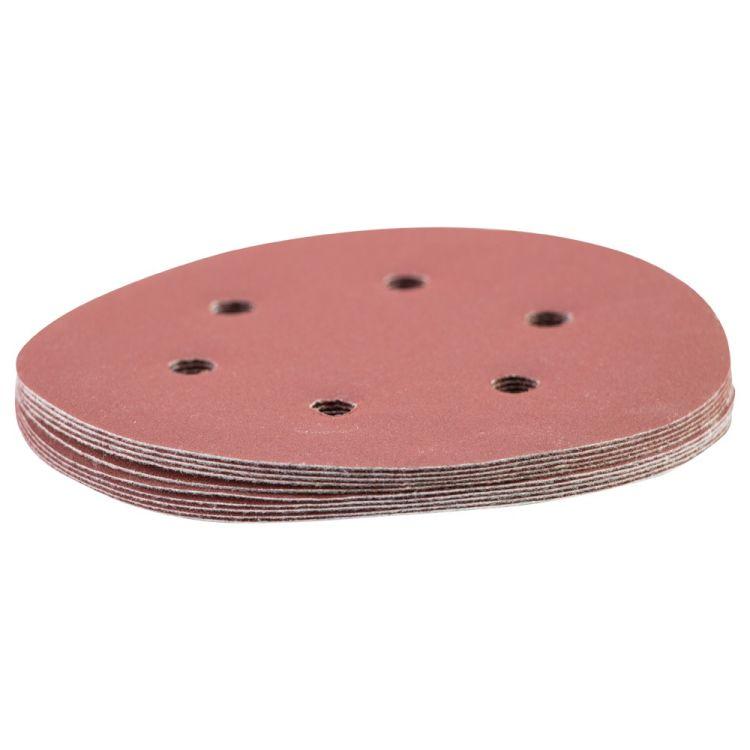 Шлифовальный круг 6 отверстий Ø150мм P320 (10шт) Sigma (9122331) - 3