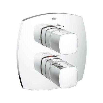 Внешняя часть термостатического смесителя для душа со встроенным переключателем на 2 положения Grohe Grandera 19937000 - 1