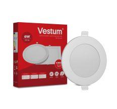Светильник светодиод 6W 1-VS-5102 LED врезной круглый Vestum 4000K 220V