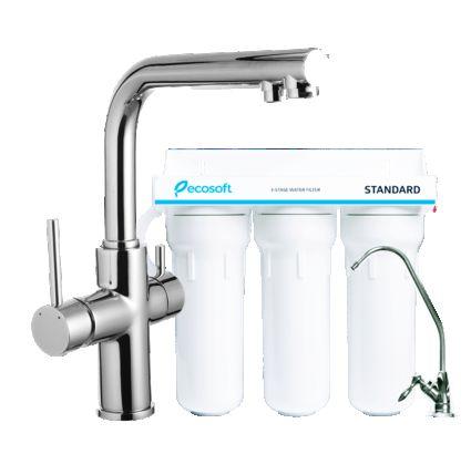Комплект: DAICY змішувач для кухні, Ecosoft Standart система очищення води (3х ступінчаста) - 1