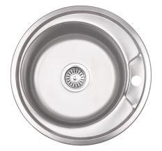 Кухонна мийка Lidz 490-A dekor 0,8 мм (LIDZ490ADEC)