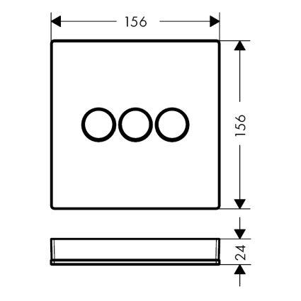 ShowerSelect Модуль з трьома запірними клапанами, скляний, чорний/хром - 2