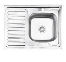 Кухонна мийка Lidz 6080-R Decor 0,8 мм (LIDZ6080RDEC08)