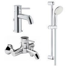 BAUCLASSIC набор смесителей 3в1 для ванны (23162000+32865000+27598001)