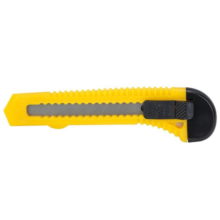 нож пластиковый корпус лезвие 2шт 18мм автоматический замок - 1