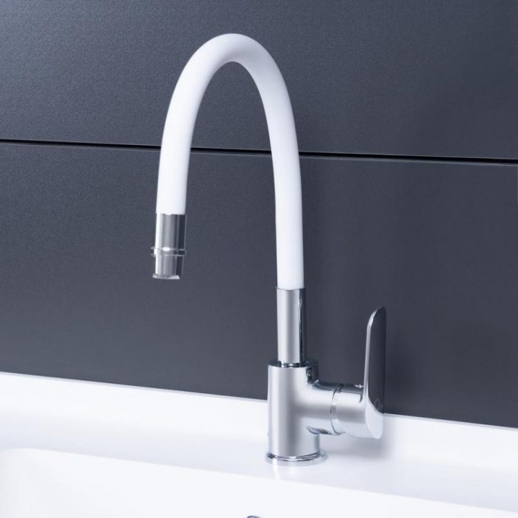 Змішувач для кухні з рефлекторним виливом Qtap Linea CRW 007F - 3
