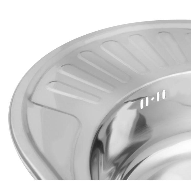 Кухонна мийка Lidz 5745 Polish 0,6 мм (LIDZ5745POL06) - 6