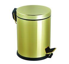 Комплект: Відро для сміття з педаллю 5Л + йоршик для унітазу, колір золото