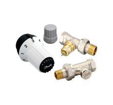 "Термостатичний Комплект Danfoss RAS-C+RA-FN+RLV-S 1/2"" для радіатора прямий (013G5254)"