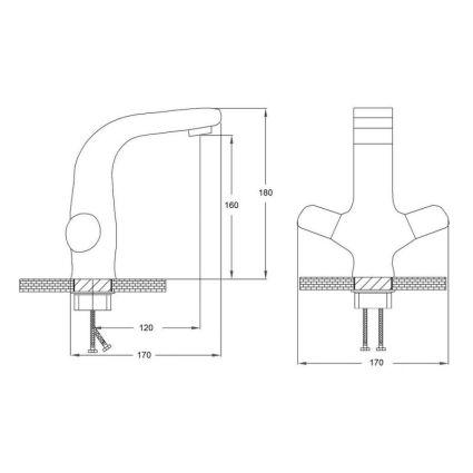 Змішувач для умивальника Potato P1059 на гайці - 2