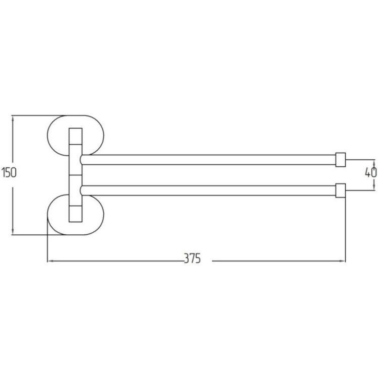 Тримач для рушника Potato P2912 подвійний поворотний - 2