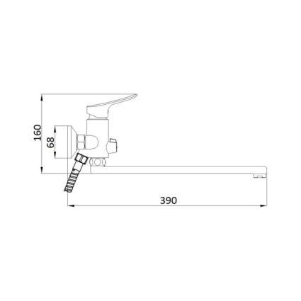 Смеситель для ванны Q-tap Loft CRM 005 New - 2