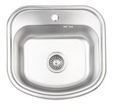 Кухонна мийка Lidz 4749 dekor 0,8 мм (LIDZ4749MICDEC)