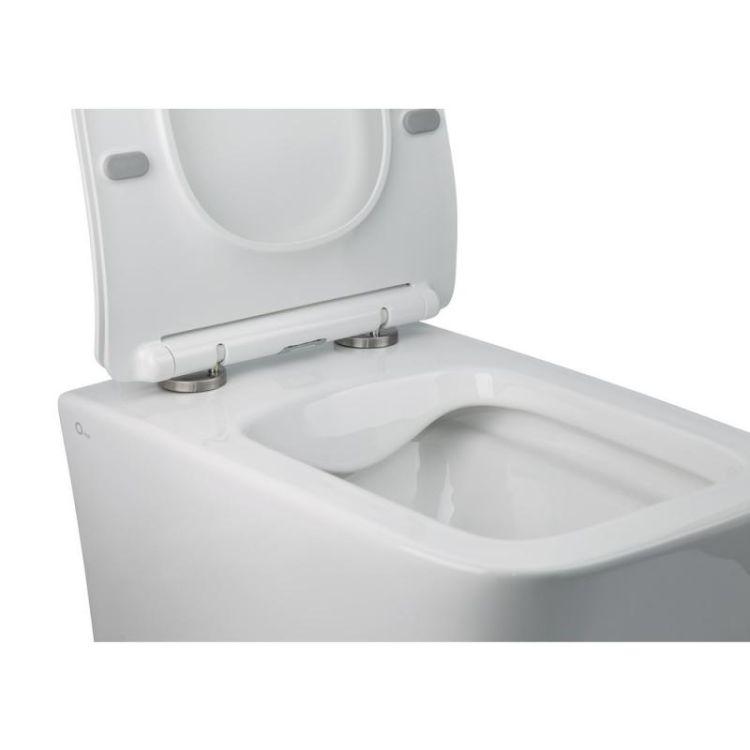 Комплект Qtap інсталяція Nest QTNESTM425M06CRM + унітаз з сидінням Crow QT05335170W + набір для гігієнічного душу зі змішувачем Inspai-Varius QTINSVARCRMV00440201 - 5