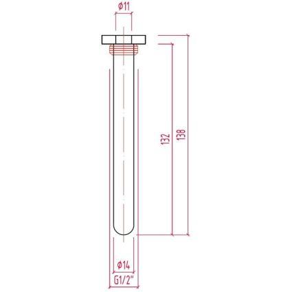 212 Штуцер д.виносного датчика термостатичної голівки арт. 997 і 992. (гільзафутляр) ICMA - 2
