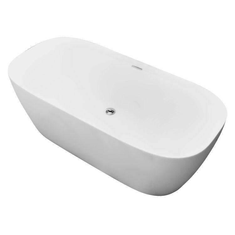 BILINA(F) ванна 170*80*58,5 см окремостояча, акрил, з сифоном - 1