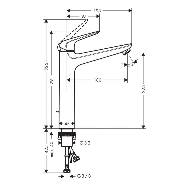 Novus Змішувач для раковини, одноважільний, ComfortZone 230 - 2