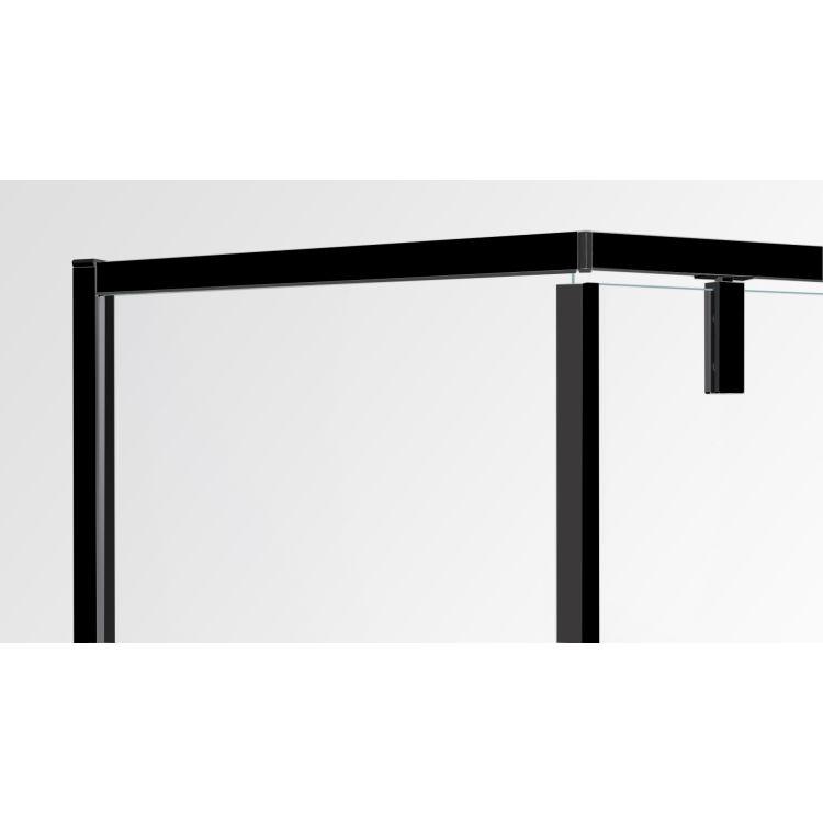 A LÁNY Душевая кабина пятиугольная, реверсивная, 1000*1000*1950 (стекла+двери), двери распашные, стекло прозрачное 6 мм, профиль черный - 3