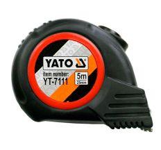 Рулетка Yato с нейлоновым покрытием и магнитным наконечником 5мх25мм YT-7111