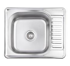 Кухонна мийка Lidz 5848 dekor 0,8 мм (LIDZ5848MDEC)