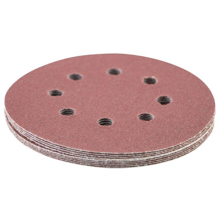 Шлифовальный круг 8 отверстий Ø125мм P120 (10шт) Sigma (9122671) - 3